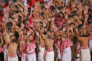 APIA, SAMOA - SEPTEMBER 05: Samoan dancers perform during the Opening Ceremony of the Vth Commonwealth Youth Games at Apia Park on September 5, 2015 in Apia, Samoa. (Photo by Scott Barbour/Getty Images)